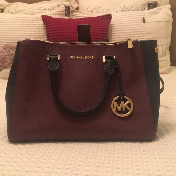 dbc478aaebbade Michael Kors Bags | Burgundy And Black Bag | Poshmark